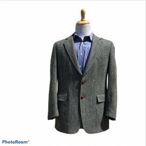 Harris Tweed 42R Gray Herringbone